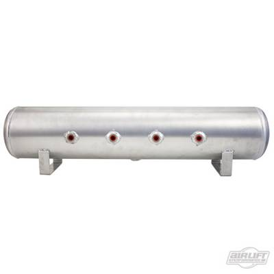 AIRLIFT PERFORMANCE  - Airlift 12957 Aluminum Air Tank 4 Gallon 7 Port end & face Polished : 12957