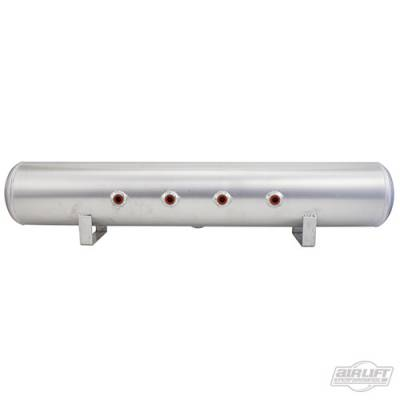Air Ride Suspension - Air Tanks  - AIRLIFT PERFORMANCE  - Airlift 12956 Aluminum Air Tank 5 Gallon 5 face ports Polished  :  12956