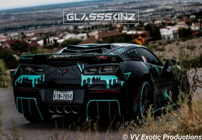 C7 Louver Glassskinz Bakkdraft www.d2bdmotorwerks.com