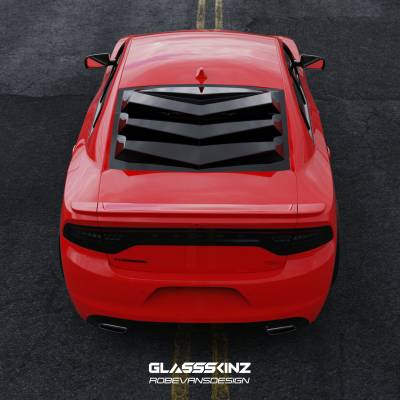 GLASSSKINZ DODGE CHARGER BAKKDRAFT LOUVER 11-20