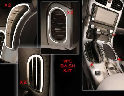 Modern Muscle Car Steel - Chevrolet C6 Corvette - American Car Craft - ACC DBoard Air Vent Trim - 41041