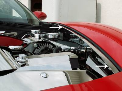 Modern Muscle Car Steel - Chevrolet C8 Corvette - American Car Craft - ACC Engine Dress Up Kit - 43095