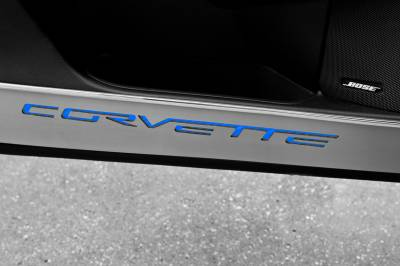 Modern Muscle Car Steel - Chevrolet C6 Corvette - American Car Craft - ACC Door Decal - 041048-BLK