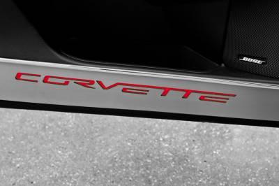 Modern Muscle Car Steel - Chevrolet C6 Corvette - American Car Craft - ACC Door Decal - 041048-BLU