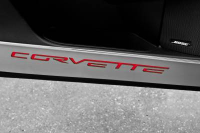 Modern Muscle Car Steel - Chevrolet C6 Corvette - American Car Craft - ACC Door Decal - 041048-YLW