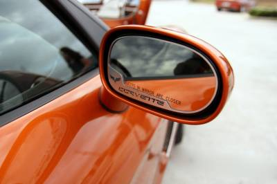 Modern Muscle Car Steel - Chevrolet C6 Corvette - American Car Craft - ACC Door Mirror TrimRing - 042087