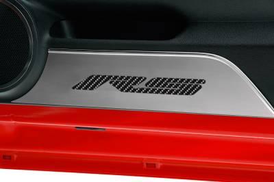 Modern Muscle Car Steel - Chevrolet Camaro - American Car Craft - ACC Door Panel Insert - 101018-BBLK