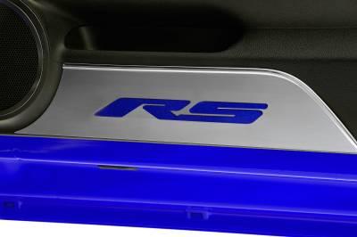 Modern Muscle Car Steel - Chevrolet Camaro - American Car Craft - ACC Door Panel Insert - 101018-BLU