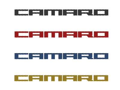 Modern Muscle Car Steel - Chevrolet Camaro - American Car Craft - ACC Door Panel Insert - 101027-BBLK