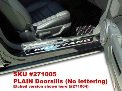 Modern Muscle Car Steel - Ford Mustang - American Car Craft - ACC Door Sill Plate - 271005