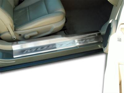 Modern Muscle Car Steel - Ford Mustang - American Car Craft - ACC Door Sill Plate - 271006