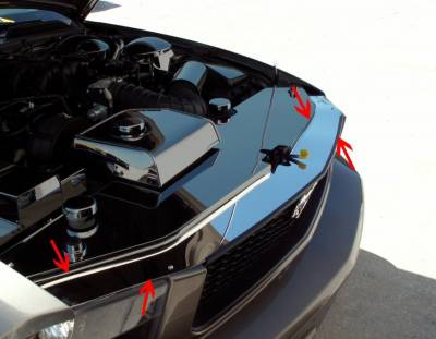 Modern Muscle Car Steel - Ford Mustang - American Car Craft - ACC Engine Dress Up Kit - 273009