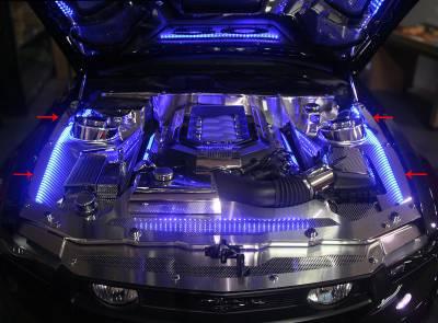 American Car Craft - ACC Engine Dress Up Kit - 273034-WHTL