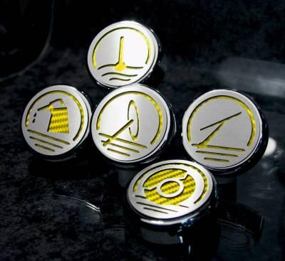 American Car Craft - ACC Fluid Cap Cover Set - 273041-YLW
