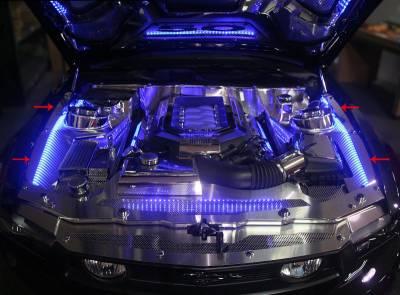 American Car Craft - ACC Engine Dress Up Kit - 273050-WHTL