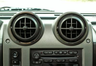 Truck/SUV Steel - GM Hummer - American Car Craft - ACC DBoard Air Vent Trim - 491016