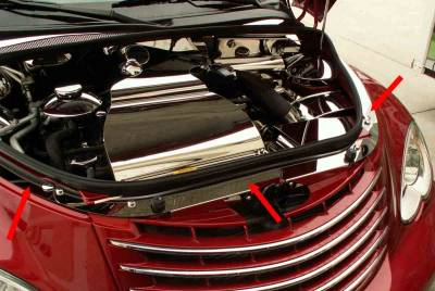 Domestic Auto Steel - Chrysler PT Cruiser - American Car Craft - ACC Engine Dress Up Kit - 713009