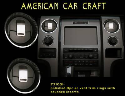 Truck/SUV Steel - Ford F-150 - American Car Craft - ACC DBoard Air Vent Trim - 771001