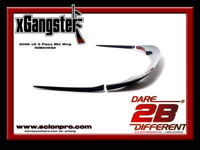 Dare 2B Different! Motorwerks ® Exclusives - D2BD - D2BD Scion xB 08-14 xGangster 3 Piece Mid Wing:D2B60652