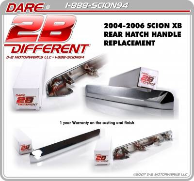 XB HATCH HANDLE REPLACEMENT WWW.D2BDMOTORWERKS.COM CHROME