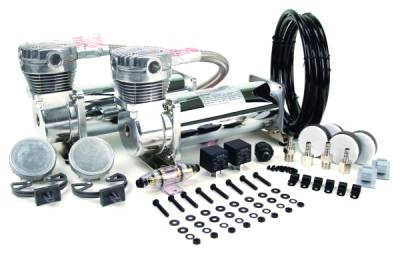 Air Ride Suspension - Air Pumps  - Viair  - Viair 23480 / 480C Dual  Chrome Compressors: VIAIR 23480